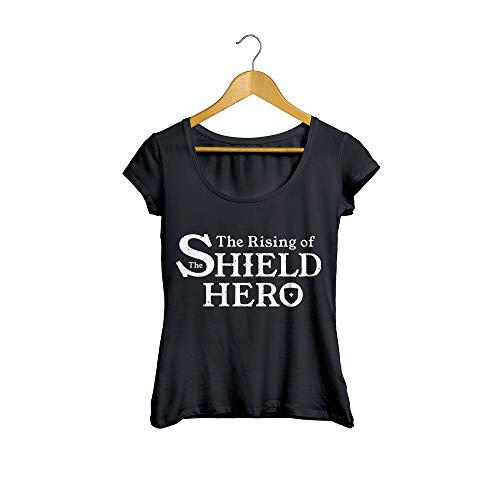 Camiseta Baby Look The Rising of The Shield Hero Anime Feminino Preto Tamanho:M