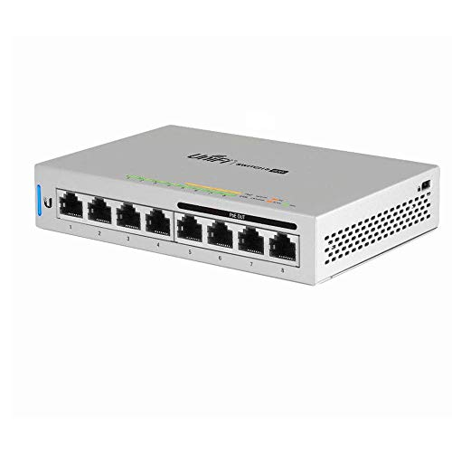 UniFi Switch 8 US-8-60W 8-Port Fully Managed Gigabit Switch 802.3af PoE Ports