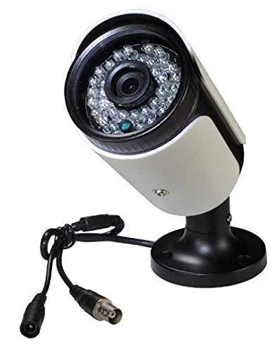 Cámara de seguridad CCTV tipo bala (negro), gran angular de 2,8mm con 1000TVL, sensor CMOS, filtro IR-CUT, para el hogar, exteriores, visión diurna y nocturna, 36 luces LED infrarrojas y resistente al agua