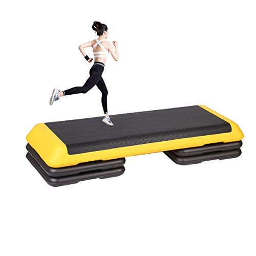 Grist CC Workout Aerobic Stepper, Rutschfestes Stepbench Mit 110Cm Aerobic Step Fett Verbrennung Cardio Ausbildung