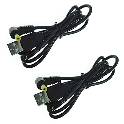 DZYDZR 2 Stücke USB A 4,0mm x 1,7mm DC-Hohlstecker 5V 2A Netzkabel(1 m)
