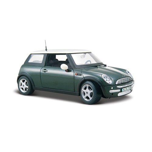 Maisto Mini Cooper: Originalgetreues Modellauto 1:24, Türen und Motorhaube zum Öffnen, Fertigmodell, 20 cm, grün (531219)