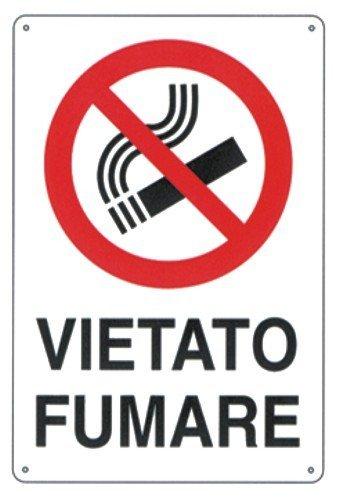 Cartello Segnaletico - Segnaletica di informazione Vietato Fumare 30x20 cm