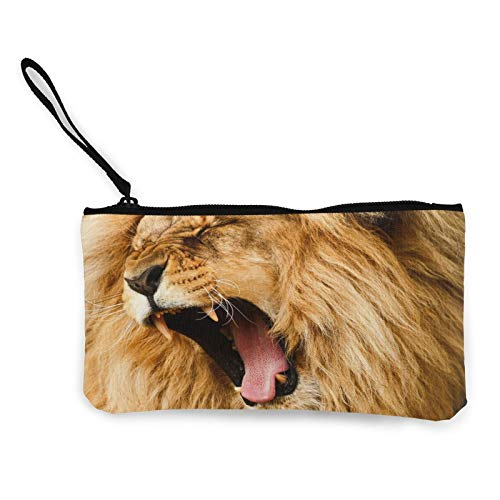 Lion Womens Coin Change Purse Pouch Multipurpose Toiletry Bags Wallet Craft Bag