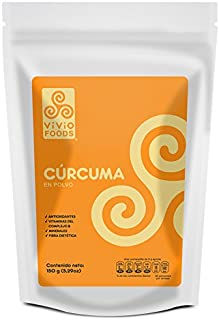 Vivio Foods, Cúrcuma Orgánica En Polvo, 150 gramos