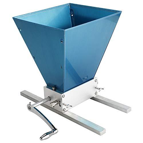 YaeMarine Malt Grinder Barley Grinder Grain Crusher Stainless Grain Grinder Manual Adjustable Mill Machine, 2 Rollers, 4L Capacity