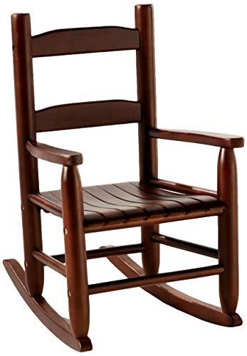 Lipper International Child's Rocking Chair, 14.5' W x 19.75' D x 23.75' H, Walnut Finish