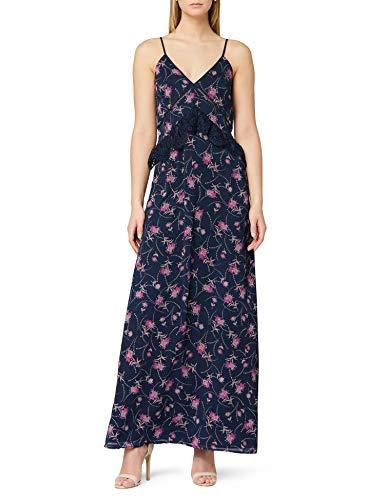 Marchio Amazon - TRUTH & FABLE Maxi Dress a Fiori Donna, Multicolore (Multicolour Multicolour), 42,...