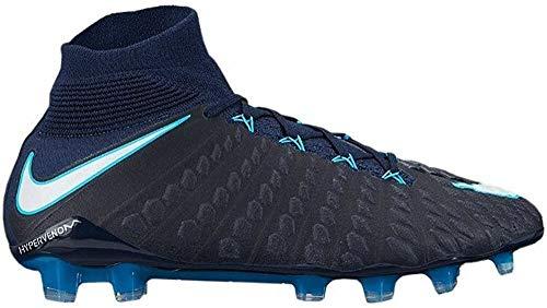 Nike Hypervenom Phantom 3DF - Fußballschuhe für Herren, Herren, blau/weiß, 36,5