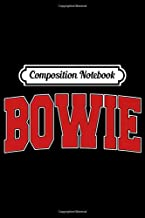 Composition Notebook: BOWIE MD MARYLAND Varsity Style USA Vintage Sports Premium Journal/Notebook Blank Lined Ruled 6x9 100 Pages