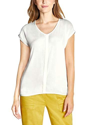 CECIL Damen 313738 T-Shirt, Weiß (pure off white 10125), Large (Herstellergröße:L)