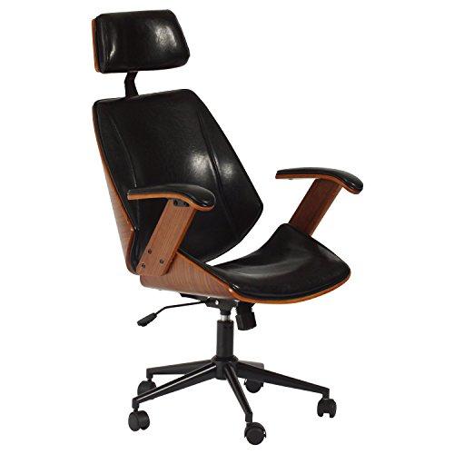 タマリビング(Tamaliving) ケルサ ホームチェア ロッキング機能 デスクチェア パソコンチェア 学習チェア 肘掛け椅子 キャスター付き 360度回転 上下昇降機能 ブラック 50002456