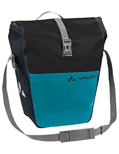 Vaude Aqua Back Color Single Einzeltasche Gepäckträgertasche Wasserdicht (Black/Alpine Lake (schwarz-blau))