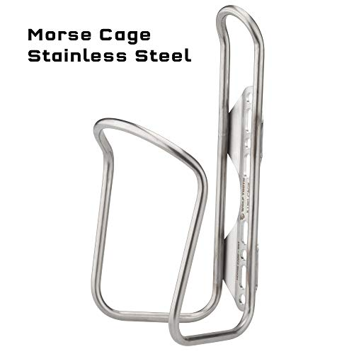 Wolf Tooth x King Cage Morse Cage for Bicycle Bottles in Titanium and Stainless Steel
