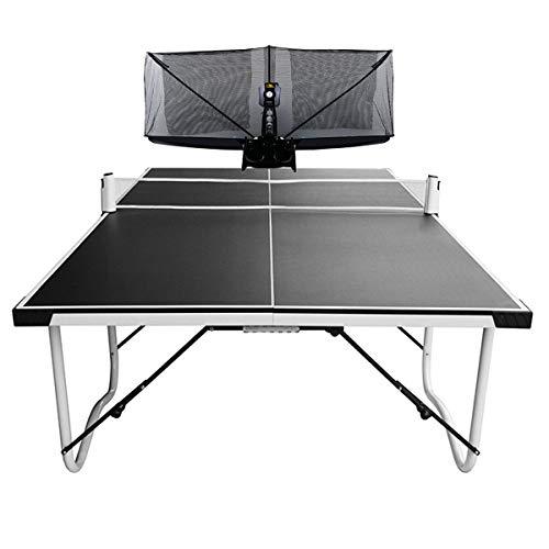 Stoge 2020 Ping-Pong-Roboter-Maschine Mit Netz, Automatisches Tischtennisplatten Trainer Tischtennisballmaschine for Spin-Ball Training (gehört Tischtennis-Roboter + Tischtennistische)