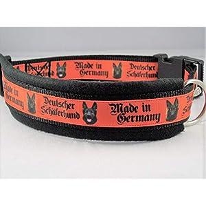 """Halsband""""Deutscher Schäferhund-made in Germany"""" 55-65cm Halsumfang"""