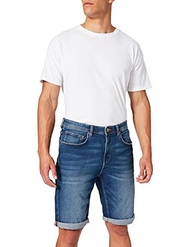 Esprit 041EE2C323 Jeans-Shorts, 902/BLUE Medium Wash, 42 Homme