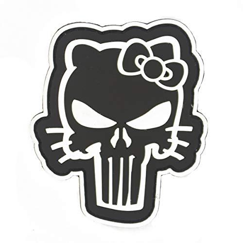 Cobra Tactical Solutions Hello Kitty Punisher Military PVC Patch mit Klettverschluss für Airsoft Cosplay Paintball für Taktische Kleidung Rucksack