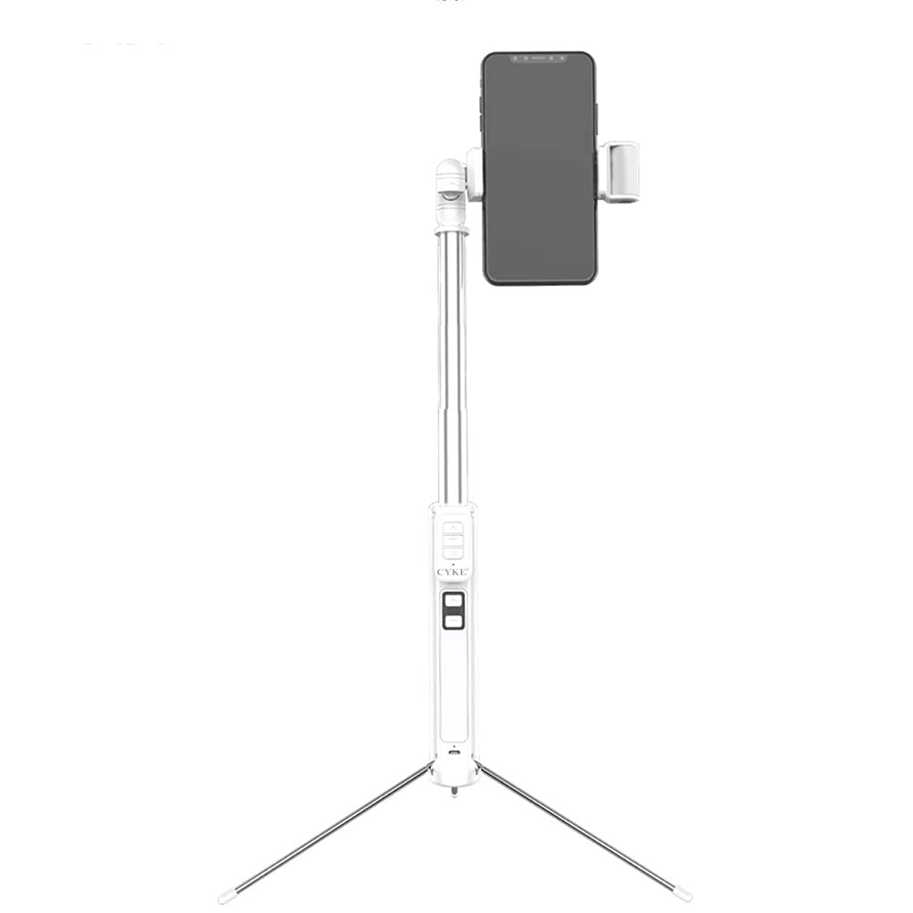 Bluetooth Selfie Stick Tripod Extendable Monopod Phone Holer with LED Fill-in Light Wireless Remote Control for iPhone X /8/8 Plus/7/7 Plus/Galaxy S9/S9 Plus/Note 8/S8/S8 Plus (63 inches) (White)