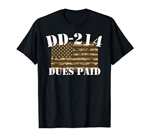 Military DD-214 Vintage DD214 Dues Paid T-Shirt