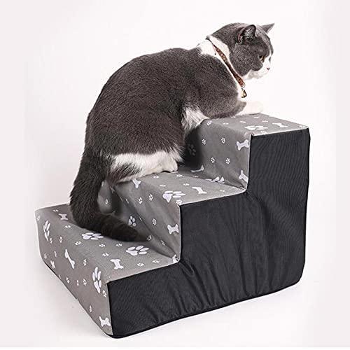 XRDSHY Escalera para Perros Impermeable Antideslizante escaleras Perro 3/4 Capa,30 / 40cm de Alto Escalera para Perros pequeños para Mascotas de Patas Cortas,3 Floors: 40 * 38 * 30cm
