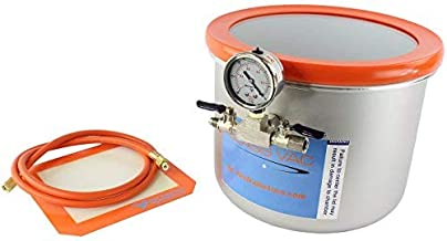 Best Value Vacs-Glass Vac 3 Gallon Stainless Steel Wide Vacuum Chamber (Includes Domestic Components, Assembled in USA)