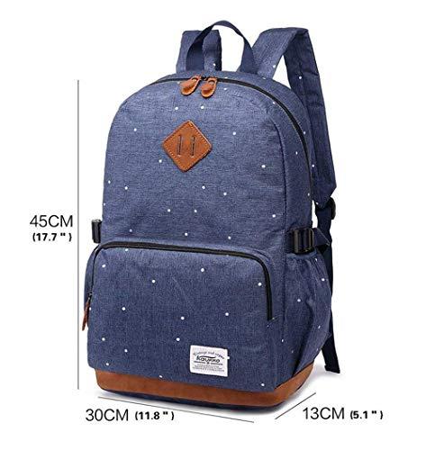 41TeilrlVdL - HFY Mujer Mochila Impermeable, Mochila para portátil Multiusos Daypacks 15.6 Pulgadas, para Negocio,Viaje,Escuela,Hombre Mujer Trabajo Diario (Azul)