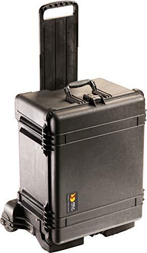 PELI 1620M Wasserdichter Kamerakoffer mit Rollen für Sicheren Transport, IP57 Wasser- und Staubdicht, 72L Volumen, Hergestellt in den USA, Mit Schaumstoffeinlage (Anpassbar), Schwarz