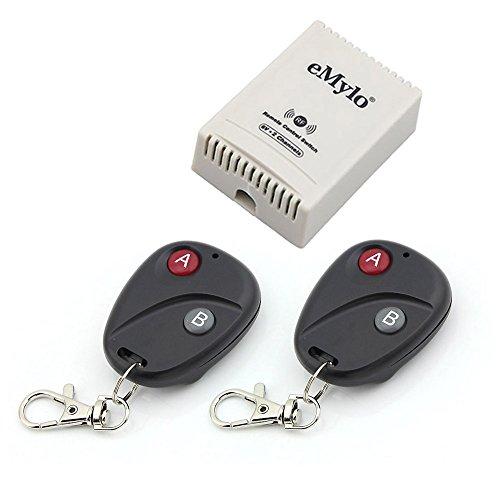 eMylo DC 6V 2 canali Smart Wireless Remote Control Switch Modulo relè RF Domotica Switch fai da te Trasmettitore 433Mhz RF con ricevitore Interruttore di apprendimento