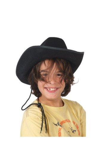 P'tit Clown 11336 Chapeau Feutre Cow Boy Enfant - Noir