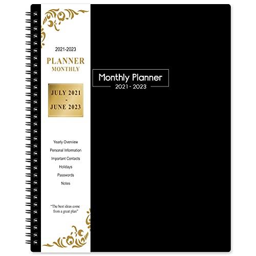 2021-2023 Monthly Planner - 24 months Planner 2021-2023, July 2021- June 2023, Monthly Planner 2021-2023, 9.2'' x 11.4'' , Planner with Inner Pocket, 24 Month Tabs, Inner Pocket