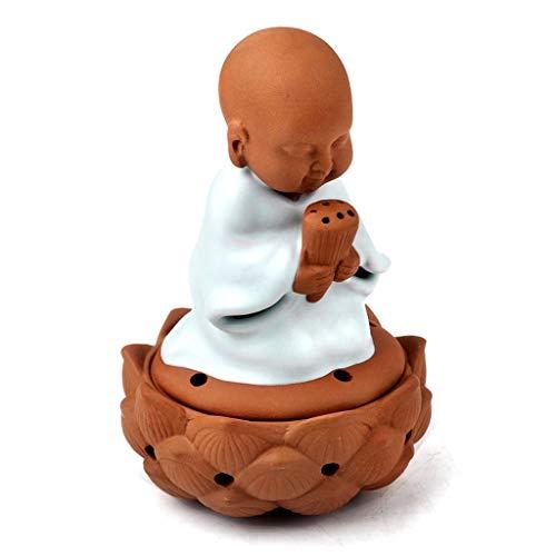 Quemador de Incienso Deseando Pequeño Buda plato quemador de incienso de cerámica de Aromatherapy Incienso titular Suministros budistas de aromaterapia regalos horno pequeños adornos decoración del ho