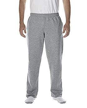 Gildan Men s Fleece Open Bottom Sweatpants with Pockets Style G18300 Sport Grey Medium