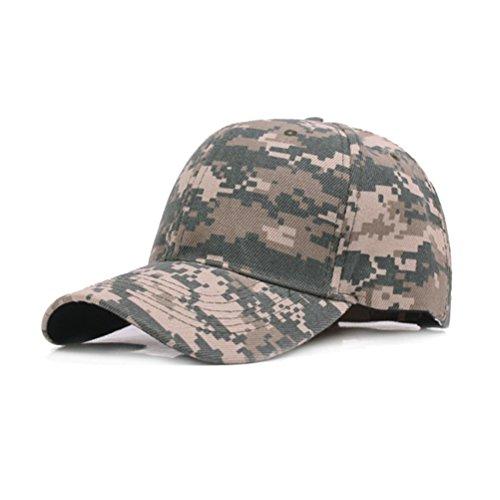 WINOMO Casquette de Baseball UltraKey Armée Militaire Camo Casquette Baseball Casquette Chasse Camouflage Chasse Pêche Activités de Plein air (Vert Camouflage)