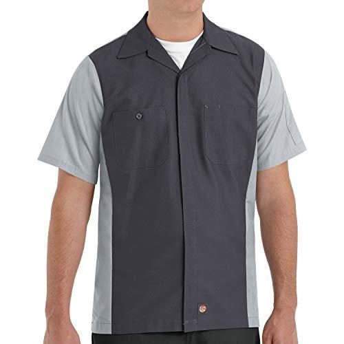Red Kap Men's Crew Shirt, Black/Cha…