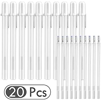 10pcs White Gel Ink Art Pen for Artists Dark Papers Drawing Highlight Supplies