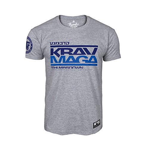 Thumbs Down Krav MAGA T-Shirt. Israel Combat System. MMA. Kampfkünste. Gym. Training. Martial Arts (Größe Small)