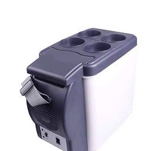 Hyy-yy Mini-nevera El nuevo portátil mini-nevera, acampa del recorrido DC más caliente, 12V portátil estuche de viaje frigorífico congelador calefacción 6L