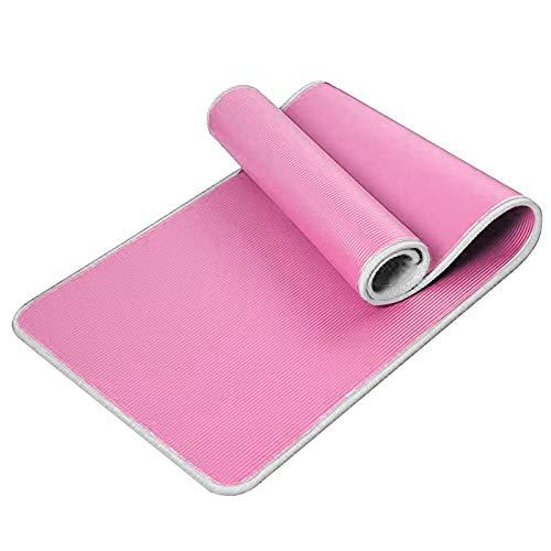 Esterilla de yoga para ejercicio, esterilla de fitness – Esterilla de entrenamiento antideslizante de alta densidad para yoga, pilates y ejercicios, antidesgarro, sudor – a prueba, clásica