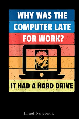 Hard Drive Dad Joke Programmer Software Developer Infosec Lined Notebook: Sentimental Gifts for Dad, Father's Day Gifts, 120 pages 6x18