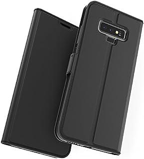 MeetJP, Samsung Galaxy Note 9 シェル 財布 レザー, Samsung Galaxy Note 9 シェル ?と カード ホルダー 且つ キックスタンド, Samsung Galaxy Note 9 財布 シェル ?と スキン, スキン シェル カバー の Samsung Galaxy Note 9 Black