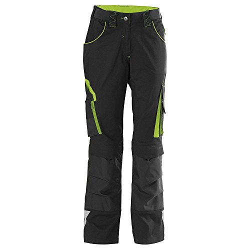 Format 4317784764155 – Fortis Damen Bundhose 24. Black/Lime Green. Gr. 52