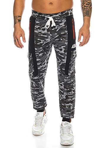 Raff&Taff Herren Sportwear Sporthose Cannabis Joggingshose Camouflage Bundeswehr Hose Tarnhose Cargohose Biker Hose Amerika (Black, XXL) (XXL, Schwarz(197))