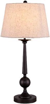 KMYX American Country Style Desk Lights Vintage Lámpara de Mesa de ...