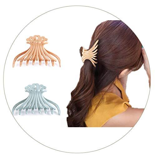 Ushiny - Pinze per capelli in plastica per donne e ragazze, 2 pezzi