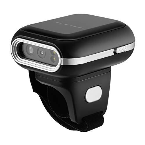 Scanner ad anello, scanner Bluetooth TTLIFE, supporto codice QR unidimensionale, testina di scansione rotante a 270°, USB cablata e Bluetooth wireless, supporto Linux Android Windows XP 7 8 10 Mac OS