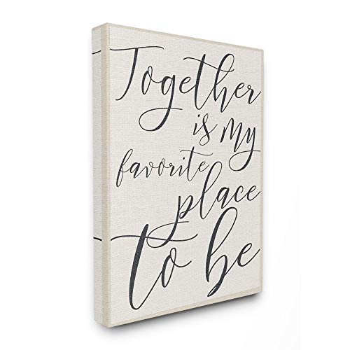 Stupell Industries Together - My Favorite Place To Be Stretched Canvas Wall Art, Proudly Made in USA