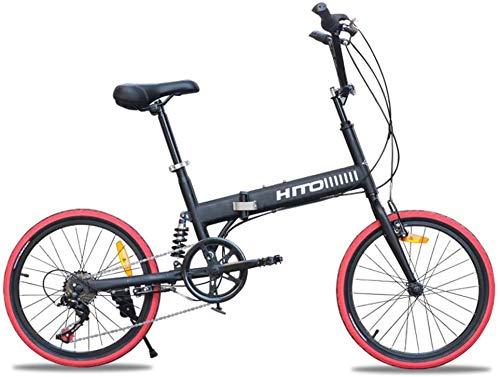 GOLDEN MANGO 20 Pollici Assorbimento degli Urti Bicicletta Pieghevole Fuoristrada Anti-Pneumatico in Mountain Bike per Uomini E Donne Adulti Signore Biciclette