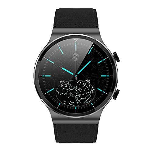 HQPCAHL Smartwatch Deportivo con Llamadas Bluetooth Reloj Inteligente Impermeable IP67 Pulsera Actividad con Monitor De Sueño Ritmo Cardíaco Notificación De Mensaje para Android E iOS,Blackb