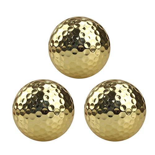 Further Golden Golf Balls, Exquisite Golden Plated Training Ball Set Plated Gold Golf Ball As...